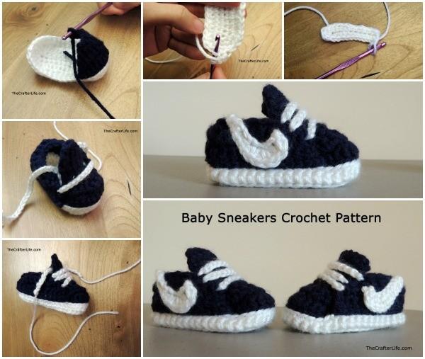 Baby Sneakers Free Crochet Pattern