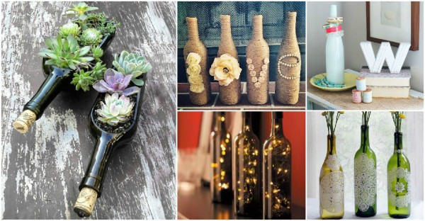 Craft Ideas With Wine Bottles 1