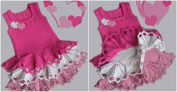 Cute Dress For Little Girls, Free Crochet Pattern