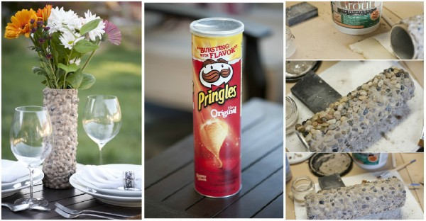Flower Vase Made From A Pringles Can