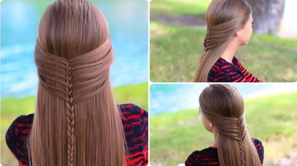 Hair Styles Mermaid Half Braid Tutorial