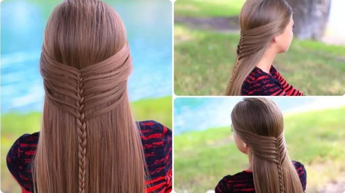 Как делать прически для длинных волос девочкам с