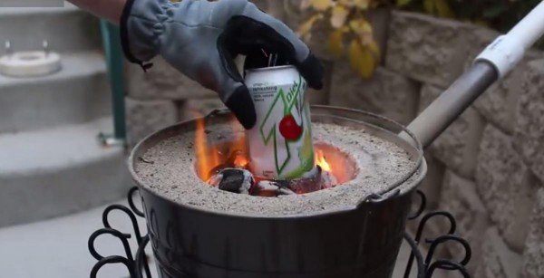 He Puts A Recycled Aluminium Can Into A Stove. The Results So Cool! {Video)