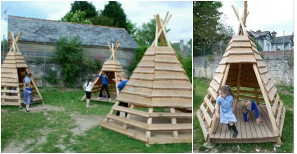 How To Build A Fun Teepee Playhouse