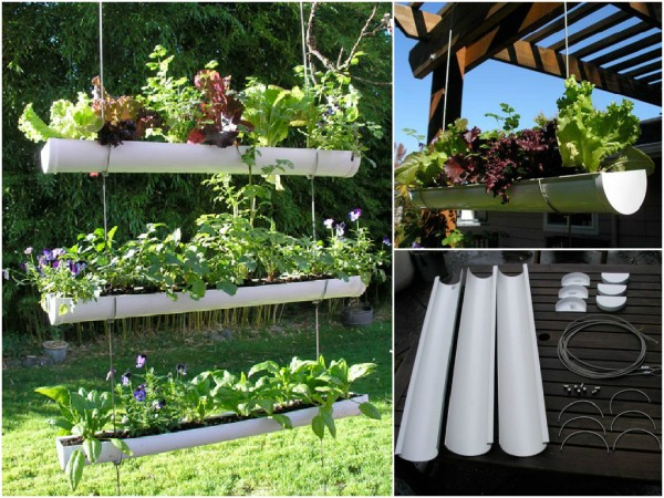 How To Make Hanging Gutter Vertical Garden How To Instructions