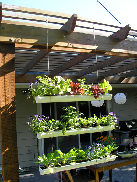 How To Make Hanging Gutter Vertical Garden How To
