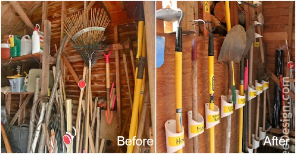How To Organize Garden Tools With Pvc Pipes