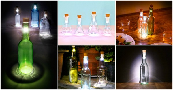 How To Recycle Empty Bottles Into Awesome Lamps 1