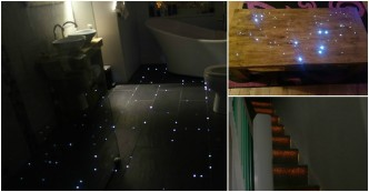 How To Turn Your Bathroom Floors Into Starry Night Sky