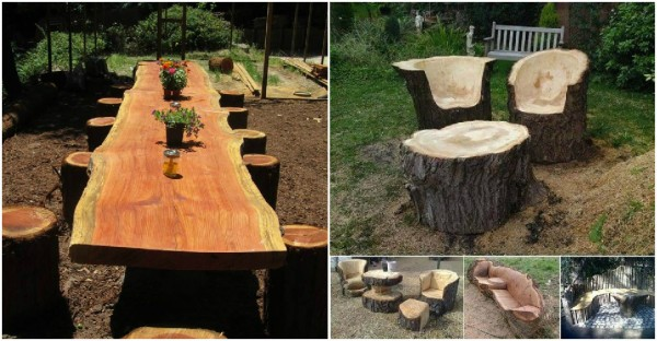 Do It Yourself Home Design: Log Furniture Tutorial