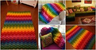 Rainbow Blanket Free Crochet Pattern