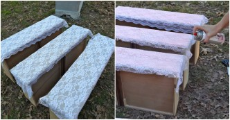 She Puts Laces On Her Drawers And Spray Paint On Them. The Results Fabulous!