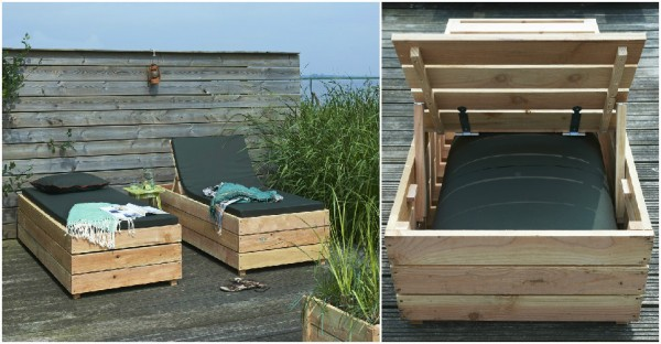 storage daybed lounger diy 2