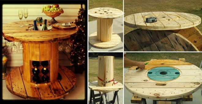 Table Made From A Spool