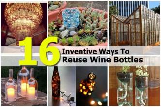 16 Inventive Ways To Reuse Wine Bottles