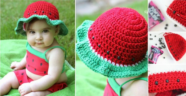 Free Crochet Patterns Baby Swaddlers : Cute Baby Sun Hat Free Crochet Pattern How To Instructions