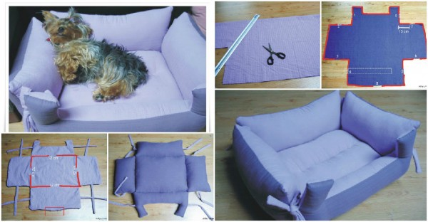 diy dog bed tutorial how to instructions