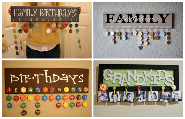 DIY Family Birthday Calendar 1