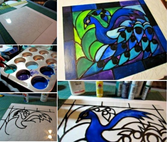 Faux Stained Glass Window Tutorial 2