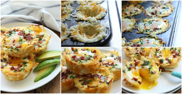 Hash Brown Egg Nests Recipe