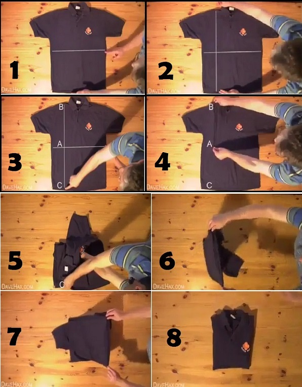 How To Fold A Shirt In Under 2 Seconds 1