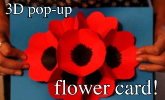 How To Make 3D Pop-up Flower Greeting Cards