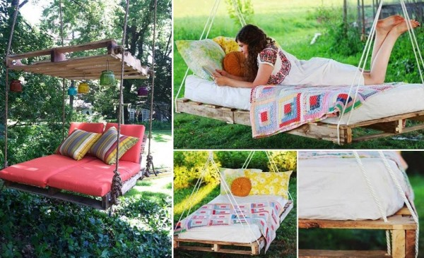 How To Make Pallet Hanging Swing Bed