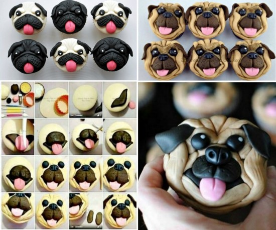 How To Make Pug Face Cupcakes 1