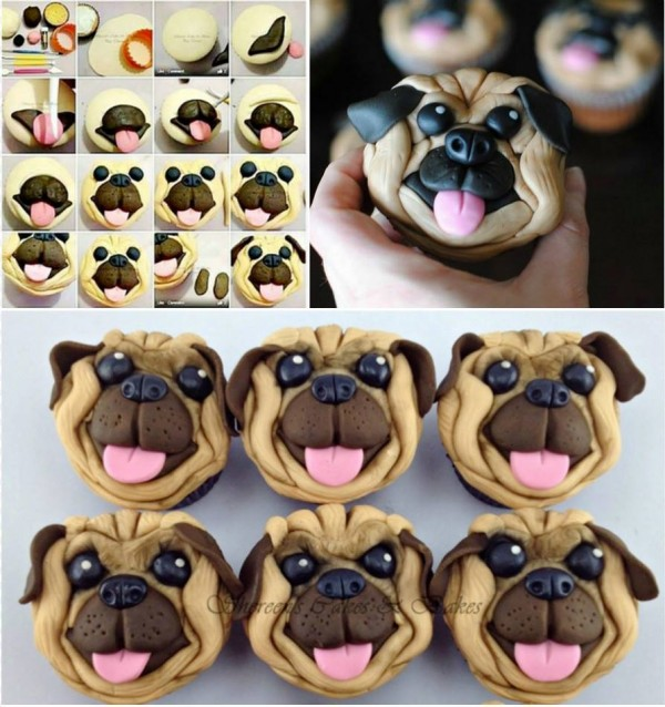 How To Make Pug Face Cupcakes