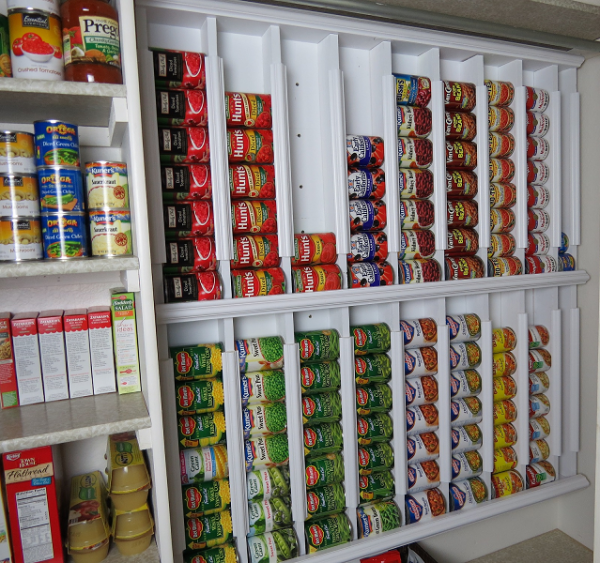 How To Make Rotating Canned Food Storage Racks 2