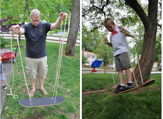 How To Recycle A Skateboard Into A Swing