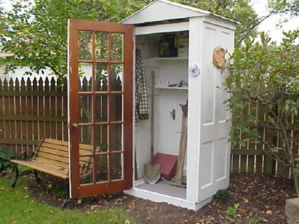 How To Recycle Old Doors Into A Storage Shed