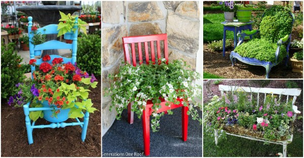 How To Turn Old Chairs Into Lovely Garden Planters