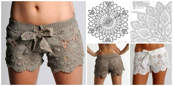 Lace Shorts Free Crochet Pattern