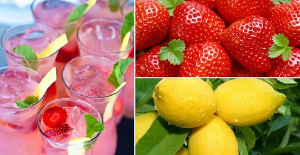 Strawberry Lemonade Vodka Drinks