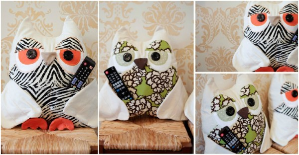TV Remote Owl Pillow Pattern 1