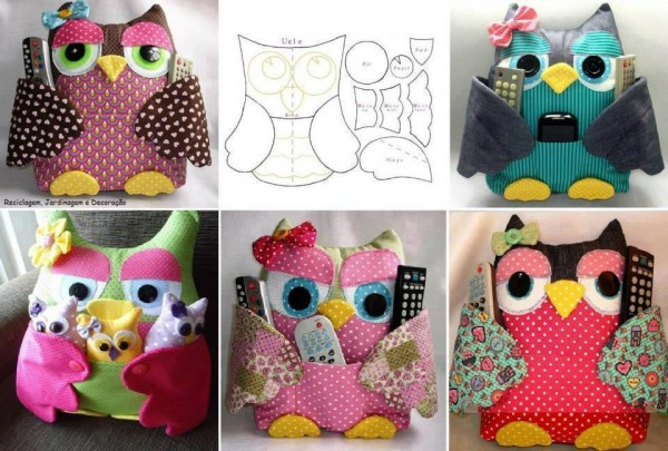 TV Remote Owl Pillow Pattern