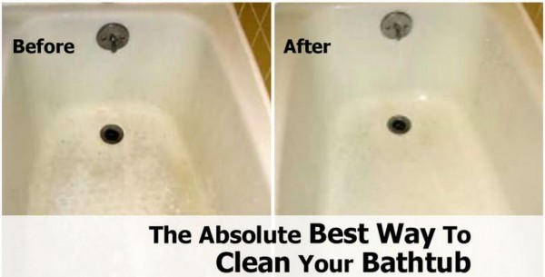 the absolute best way to clean your bathtub how to
