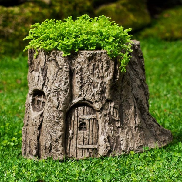 Tree Stump Planter Ideas 7