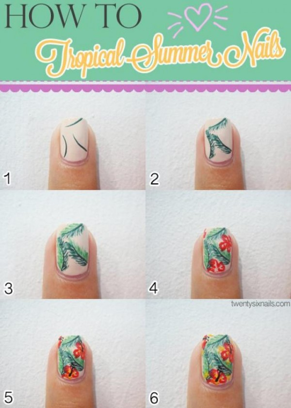 14 Summer Nail Art Tutorials 1