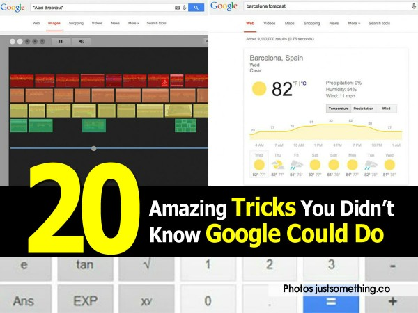20 Amazing Tricks You Didn't Know Google Could Do