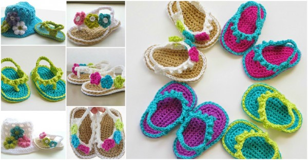 Baby Flip Flop Crochet Pattern