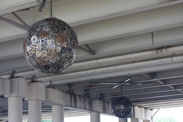 Chandeliers Made From Recycled Bike Parts 10