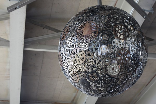 Chandeliers Made From Recycled Bike Parts 2