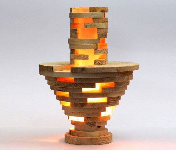 Cool DIY Stacked Lamp 10