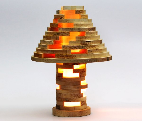 Cool DIY Stacked Lamp