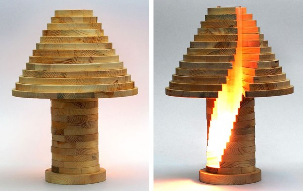 Cool DIY Stacked Lamp 9