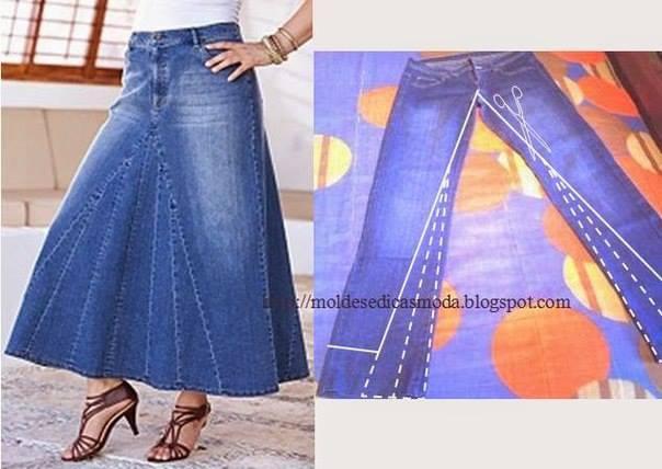 Сшить юбку из джинс своими руками