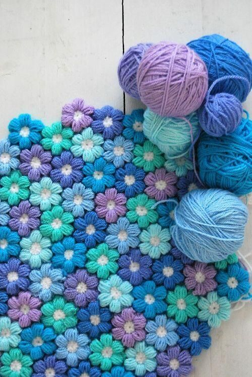Crochet Flower Baby Blanket 4