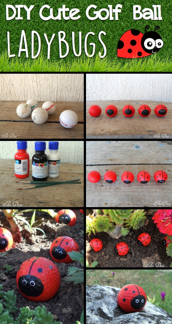 DIY Cute Golf Ball Ladybugs 1